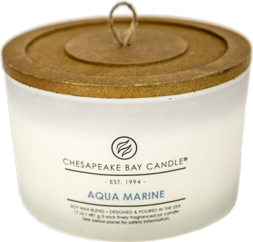 Chesapeake Bay Candle® Aqua Marine Coffee Table Jar Candle - White Perspective: front
