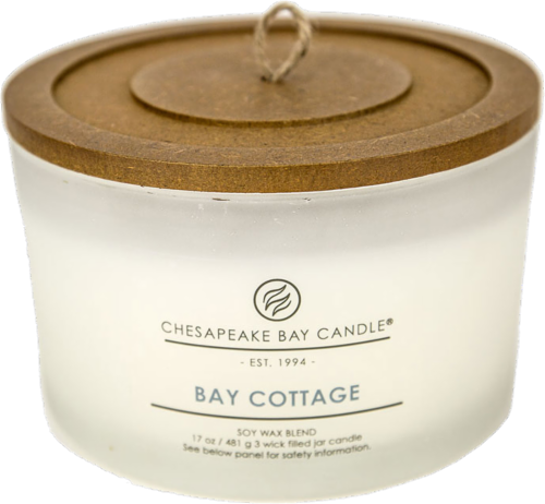Chesapeake Bay Candle® Bay Cottage Coffee Table Jar Candle - White Perspective: front