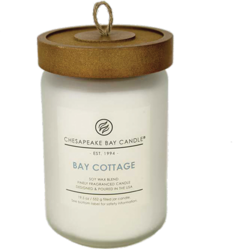 Chesapeake Bay Candle Bay Cottage Fragranced Jar Candle Perspective: front