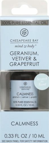 Chesapeake Bay Calmness Geranium Vetiver & Grapefruit Essential Oil Perspective: front