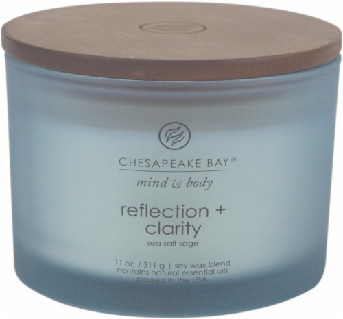 Chesapeake Bay Candle Mind and Body Reflection and Clarity 3-Wick Jar Candle Perspective: front