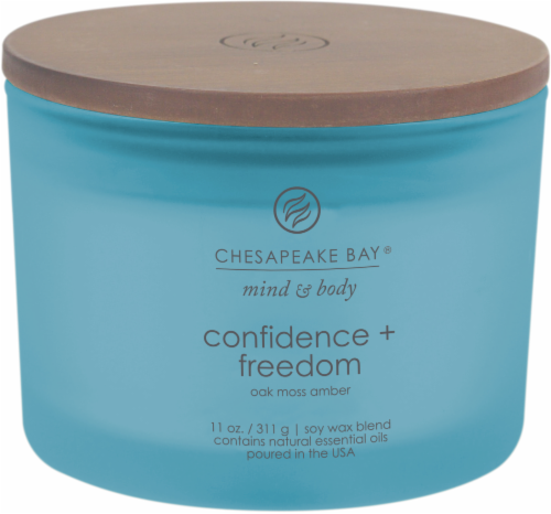 Chesapeake Bay Candle Mind and Body Confidence and Freedom 3-Wick Jar Candle Perspective: front