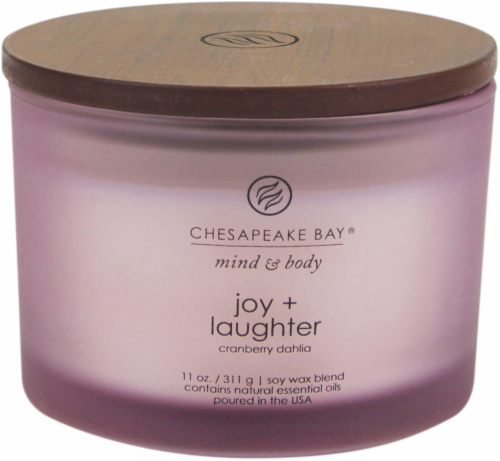Chesapeake Bay Candle Mind and Body Joy and Laughter 3-Wick Jar Candle Perspective: front