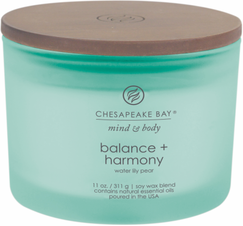 Chesapeake Bay Candle Mind and Body Balance and Harmony 3-Wick Jar Candle Perspective: front