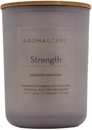Pacific Trade Aromascape Strength Jar Candle Perspective: front