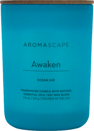 Pacific Trade Aromascape Awaken Ocean Air Jar Candle Perspective: front