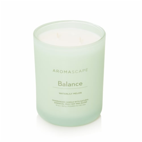 Pacific Trade Aromascape Balance 2-Wick Jar Candle Perspective: front