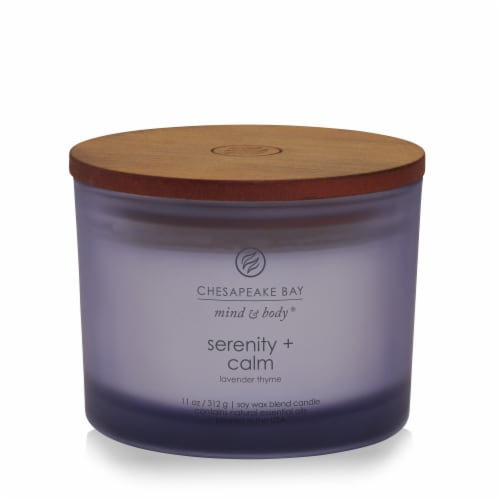 Chesapeake Bay Candle Mind & Body Serenity + Calm Lavender Thyme Jar Candle Perspective: front