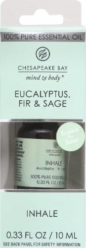 Chesapeake Bay Inhale Eucalyptus Fir & Sage Essential Oil Perspective: front