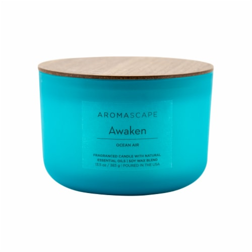 Aromascape Awaken Ocean Air Candle Perspective: front