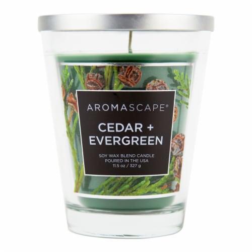 Aromascape Cedar + Evergreen Jar Candle Perspective: front