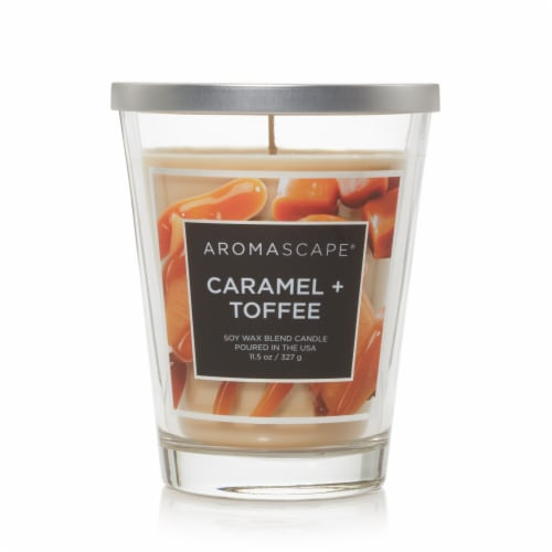 Chesapeake Bay Candle Aromascape Caramel + Toffee Jar Candle Perspective: front