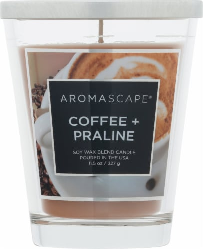 Chesapeake Bay Candle Aromascape Coffee + Praline Jar Candle Perspective: front