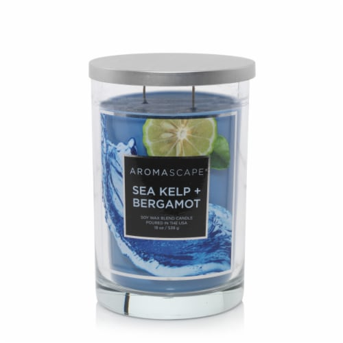 Chesapeake Bay Sea Kelp and Bergamot Candle Perspective: front