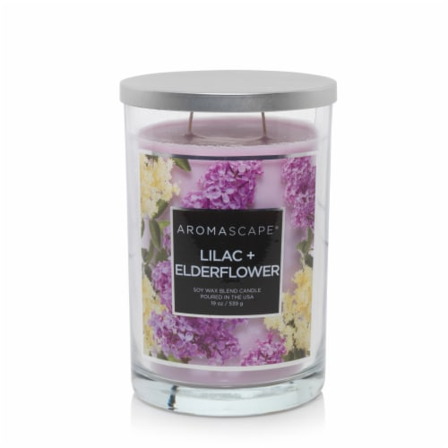 Chesapeake Bay Candle Aromascape Lilac + Elder Flower Candle - Light Purple Perspective: front