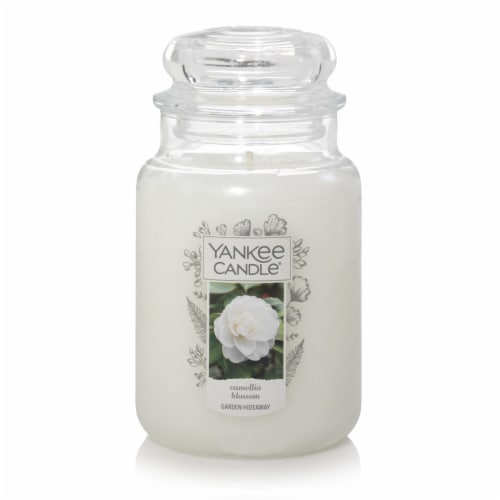 Yankee Candle Camellia Blossom Candle - White Perspective: front