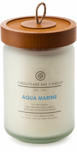 Chesapeake Bay Candle Heritage Aqua Marine Large Jar Candle Perspective: front