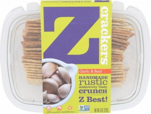 Z Crackers Garlic & Basil Crackers Perspective: front