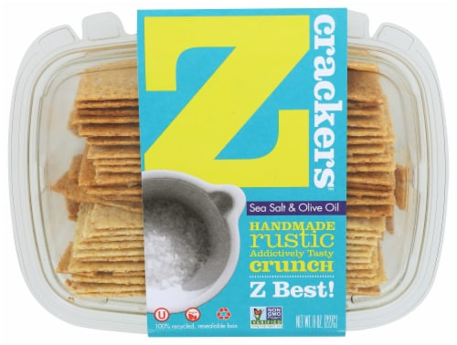 Z Crackers Sea Salt & Olive Oil Perspective: front