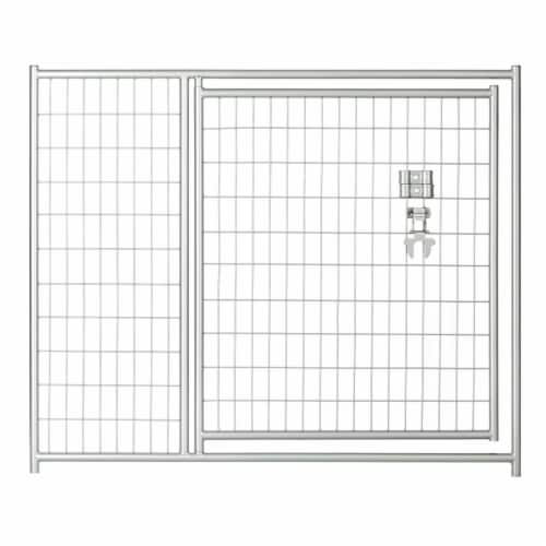 Lucky Dog CL 28544 4 x 5 ft. Silver Welded Wire Modular Gate Perspective: front