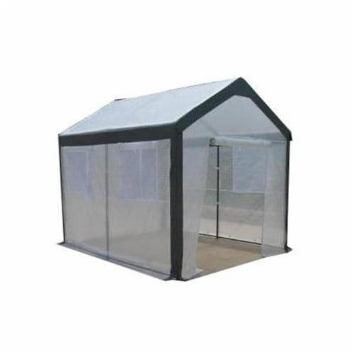 Spring Gardener 6'6''Hx5'Wx6'L Gable Greenhouse-IS 70506 Perspective: front