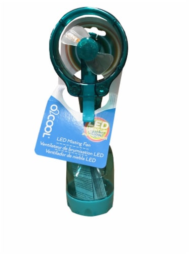 O2Cool LED Misting Fan Perspective: front