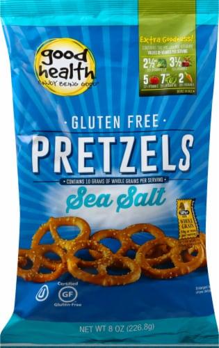 Good Health Gluten Free Sea Salt Pretzels Perspective: front