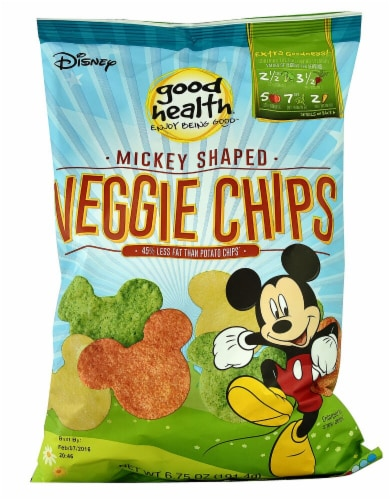 Good Health Mickey Shaped Veggie Chips Perspective: front