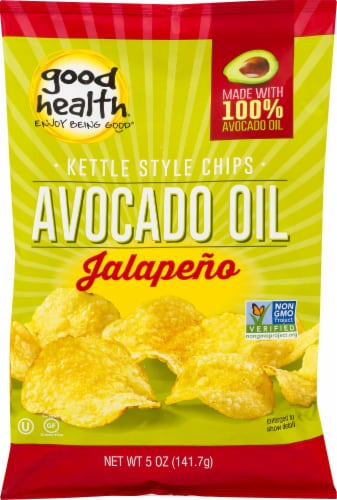 Good Health Jalapeno Avocado Oil Kettle Chips Perspective: front