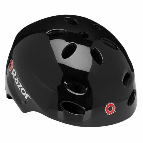 Razor V17 Youth Skateboard/Scooter/Bike Sport Helmet, Glossy Black | 97778 Perspective: front