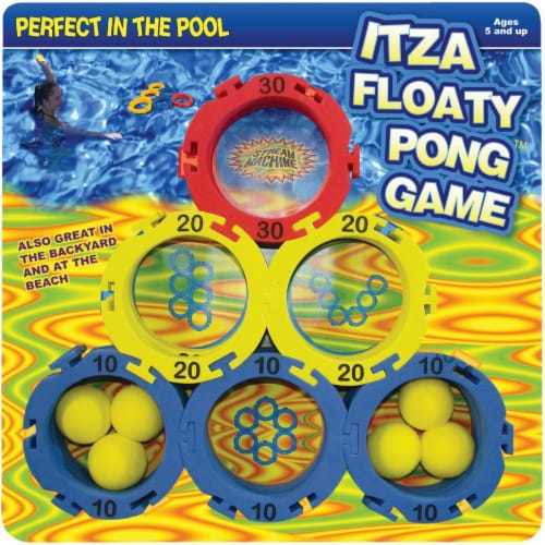 Water Sports Itza Floaty Pong 2 or More Players Pool Game 82055 Perspective: front