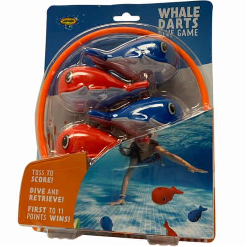 Water Sports Assorted Plastic Whale Darts Dive Set - Case Of: 1; Perspective: front
