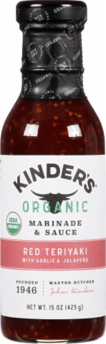 Kinder's Sweet & Spicy Teriyaki Marinade and Sauce Perspective: front