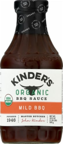 Kinders Organic Mild BBQ Sauce Perspective: front