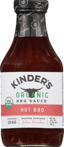 Kinder's Organic Hot Bbq Sauce Perspective: front