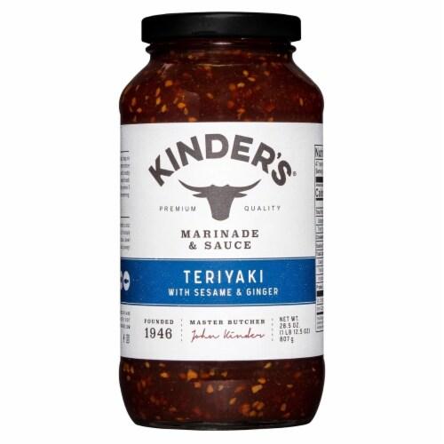 Kinder's Teriyaki Sauce (28.5 Ounce) Perspective: front