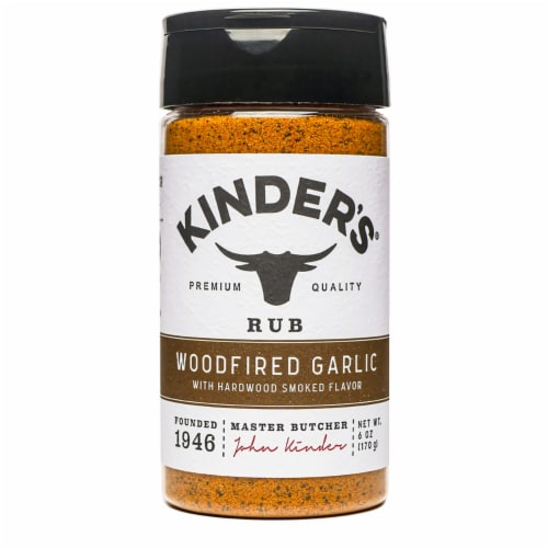 Kinder's Woodfired Garlic Rub (9.5 Ounce) Perspective: front