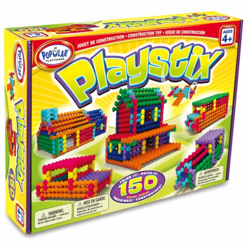 Popular Playthings Playstix Construction Toy Perspective: front