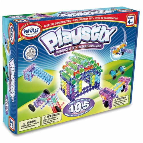 Popular Playthings PPY90015 Playstix Transparent Set Perspective: front