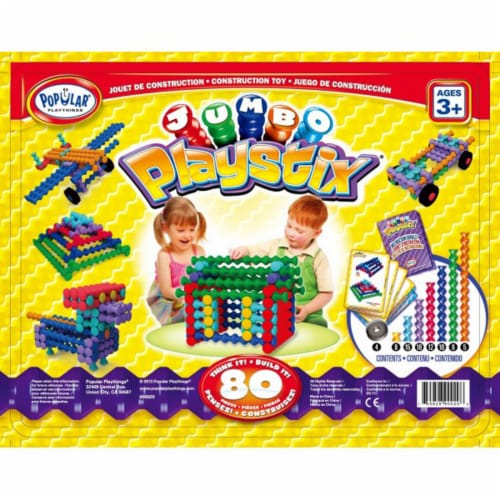 Popular Playthings Playstix Jumbo Construction Toy Perspective: front
