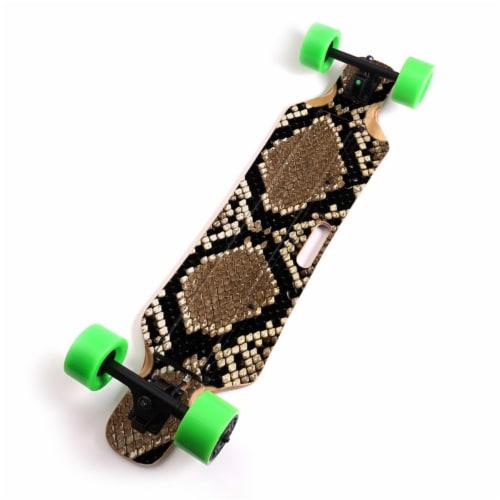 MightySkins BLIHU-Rattler Skin for Blitzart Huracane 38 in. Electric Skateboard - Rattler Perspective: front
