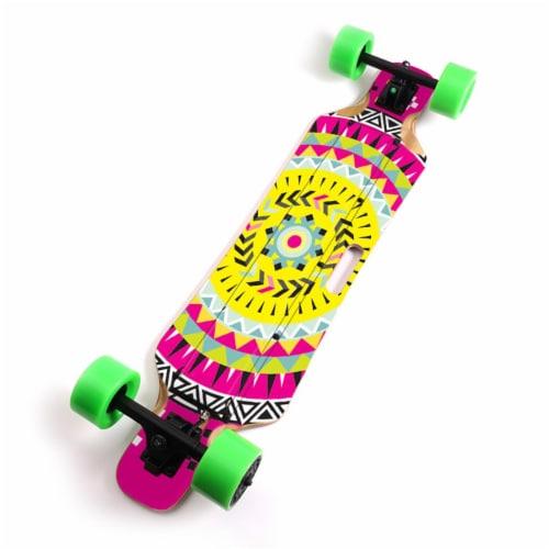 MightySkins BLIHU-Pink Aztec Skin for Blitzart Huracane 38 in. Electric Skateboard - Pink Azt Perspective: front