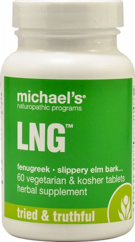 Michael's Naturopathic Programs LNG Tablets Perspective: front