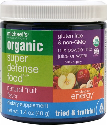 Michael's Naturopathic Programs  Organic Super Defense Food™   Natural Fruit Perspective: front