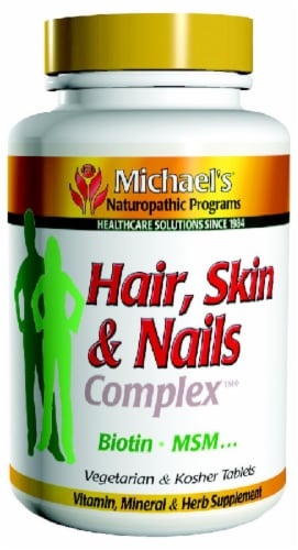 Michael's Naturopathic Programs Hair Skin & Nails Complex Tablets Perspective: front