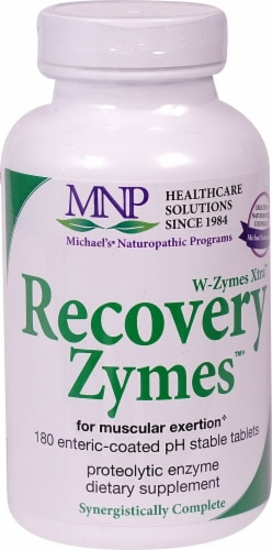 Michael's Naturopathic Programs  W-Zymes Xtra™ Recovery Zymes™ Perspective: front