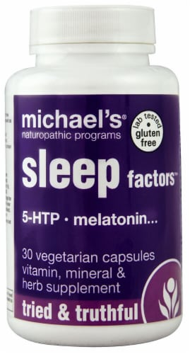 Michael's Naturopathic Programs Sleep Factors Vegetarian Capsules Perspective: front