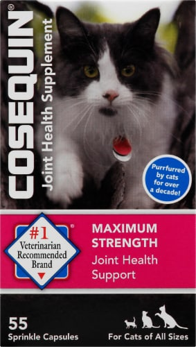 Cosequin for Cats Maximum Strength Joint Health Supplement Capsules 55 Count Perspective: front