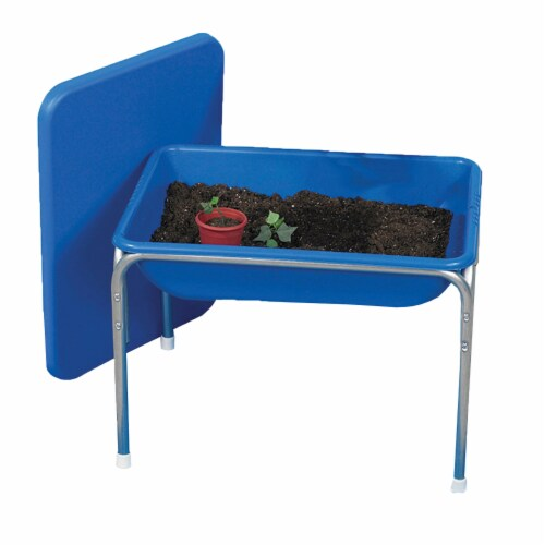 Children's Factory Small Sensory Table & Lid Set - Blue Perspective: front