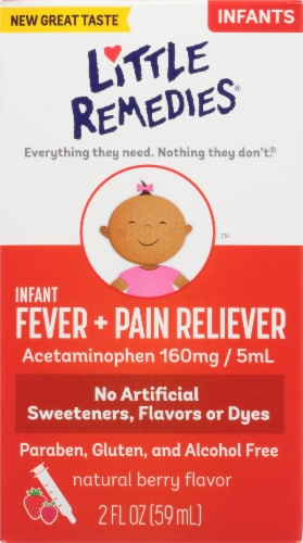 Little Fevers Infant Pain Reliever Mixed Berry Liquid Perspective: front